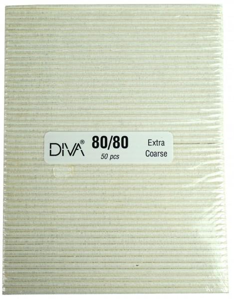Pilnik, bardzo szeroki biały, ziarnistość 80/80, 50 sztuk.