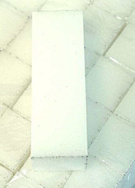 Buffer, white 80 grit