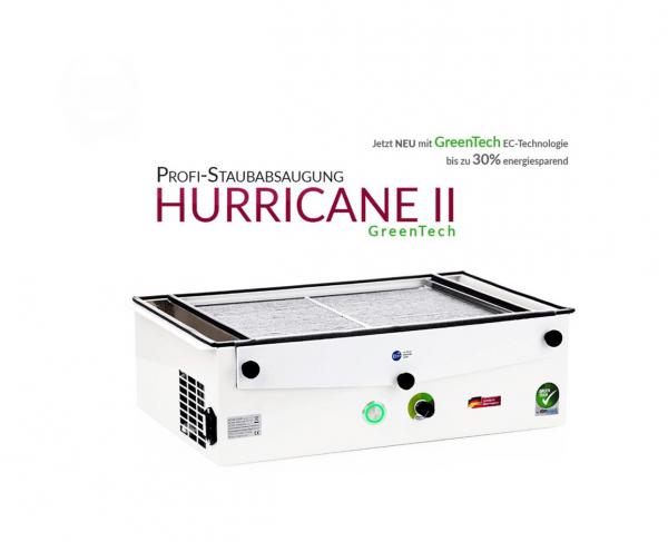 Professionele stofafzuiging HURRICANE II GreenTech