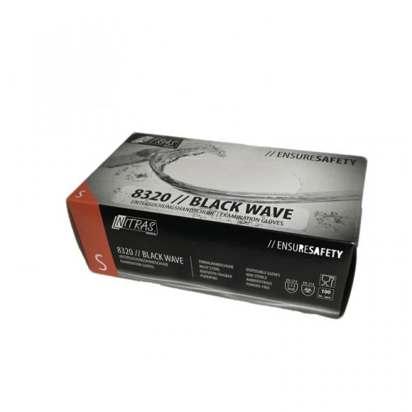Nitrile disposable gloves Black Wave 100st